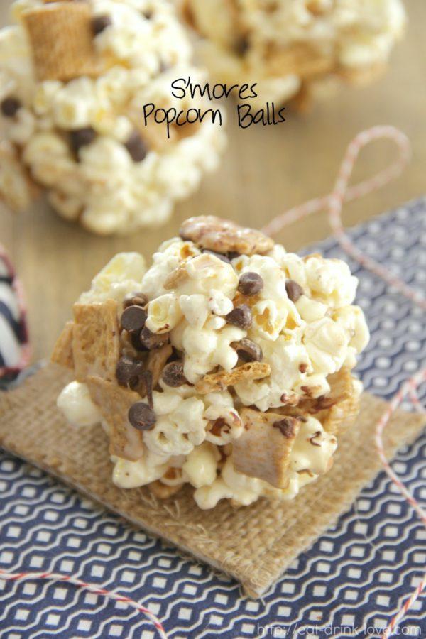 S'mores Popcorn Balls, Smores