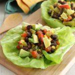Vegetable Lettuce Wraps, Vegetarian, Veggie