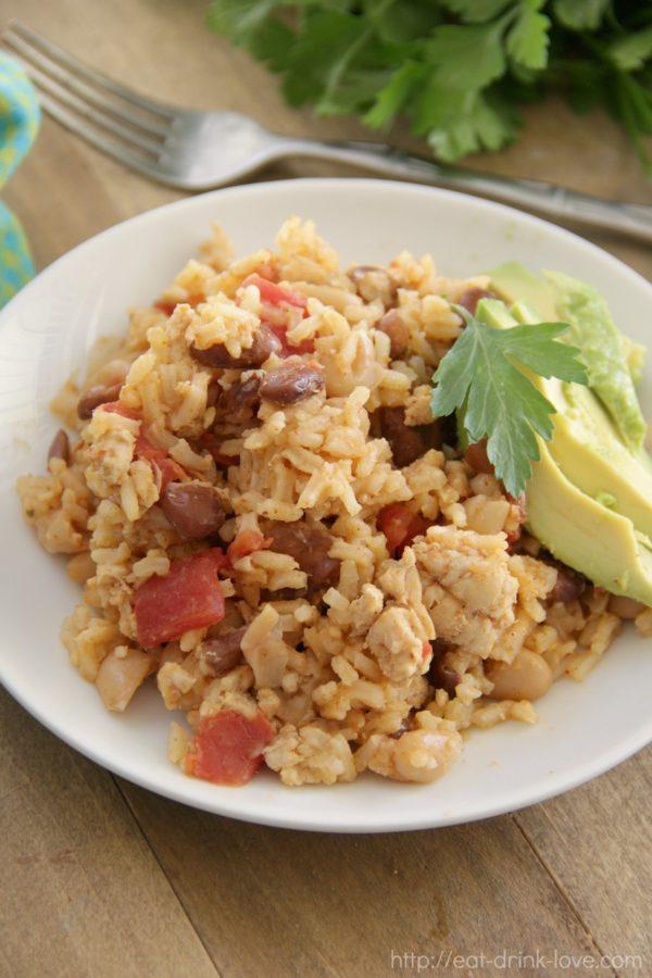 One-Pot Chicken Beans Rice