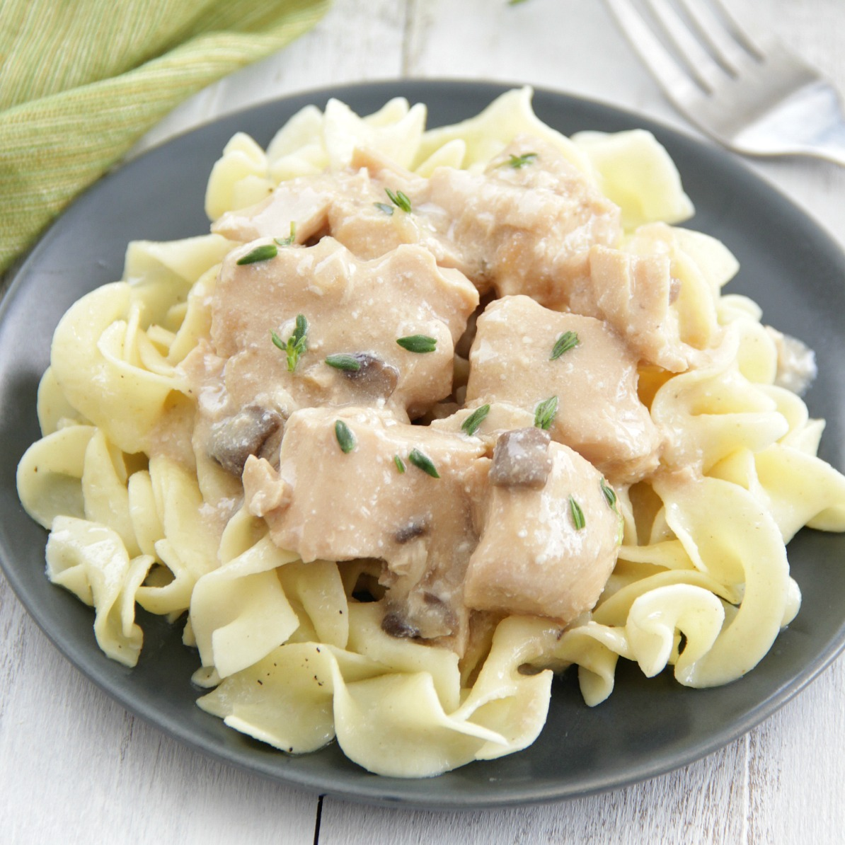 Slow Cooker Chicken Stroganoff - Eat. Drink. Love.
