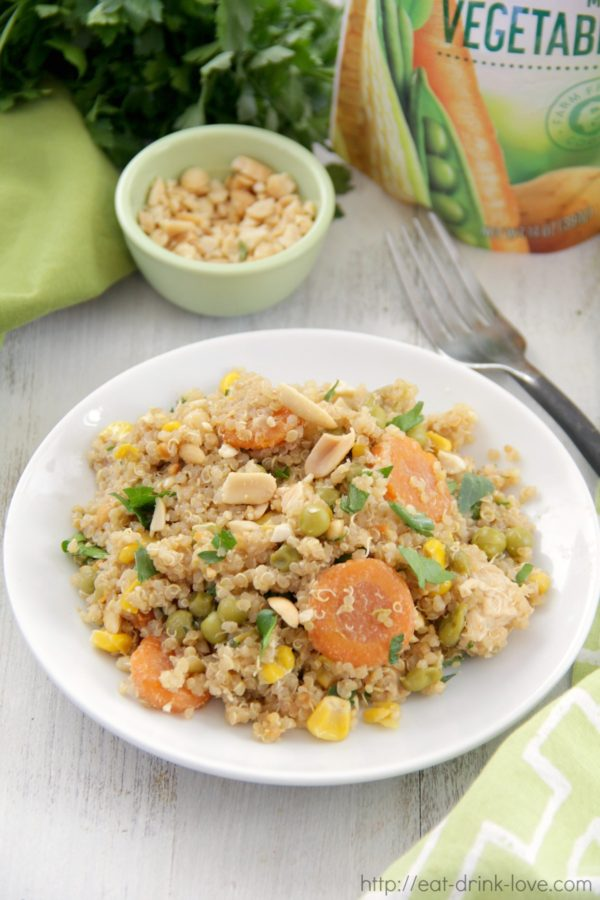 Peanut Chicken and Veggie Quinoa Stir-Fry