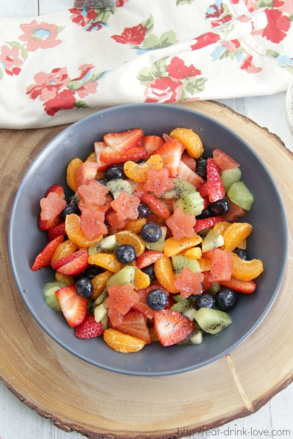 Fruit Salad with Citrus Poppy Dressing