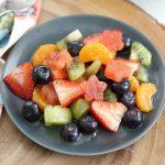 Fruit Salad with Citrus Poppy Dressing