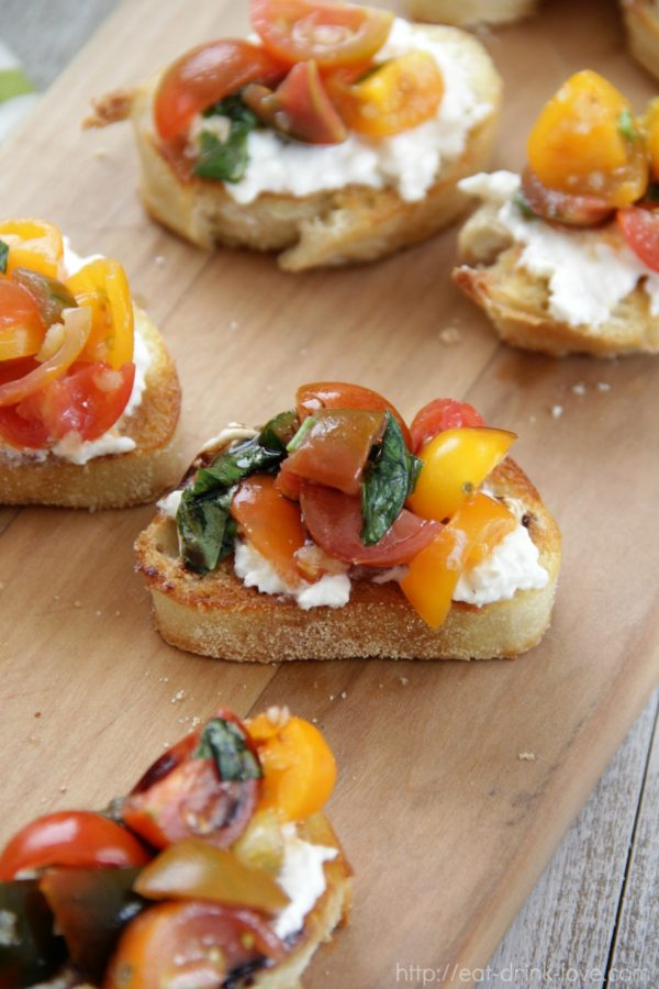 Tomato Burrata Toasts
