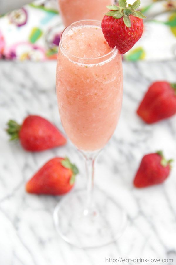 Frozen Strawberry Bellinis