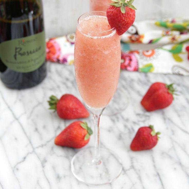 Frozen Strawberry Bellinis