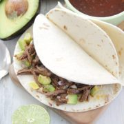 Slow Cooker Beef Barbacoa Tacos