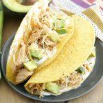 Crockpot Ranch Chicken Tacos