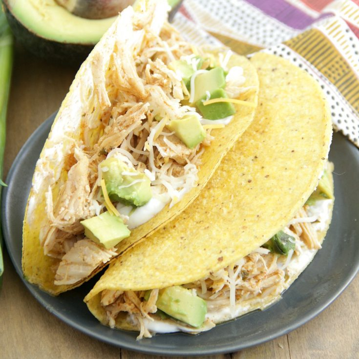 Crock Pot Ranch Chicken Tacos Or Pressure Cooker Eat Drink Love