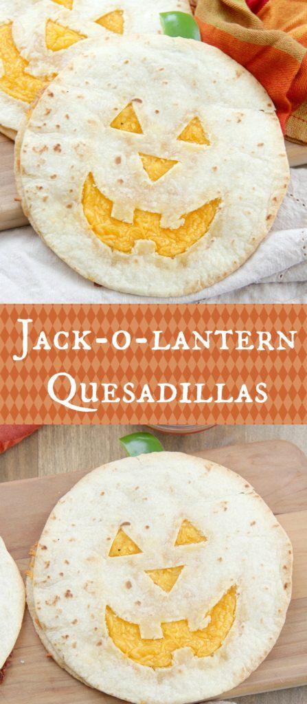 Jack-o-lantern Quesadillas