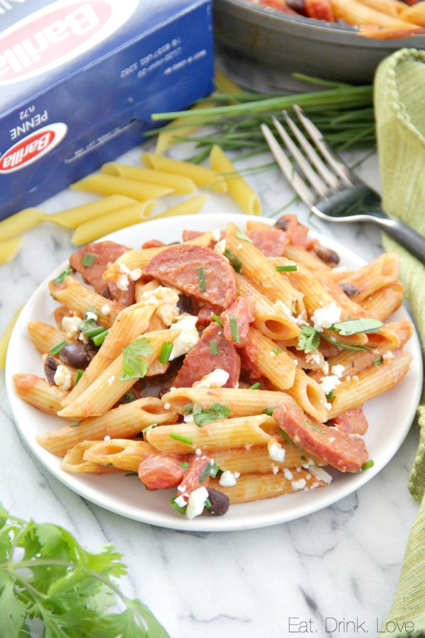Penne with Chorizo and Creamy Tomato Sauce