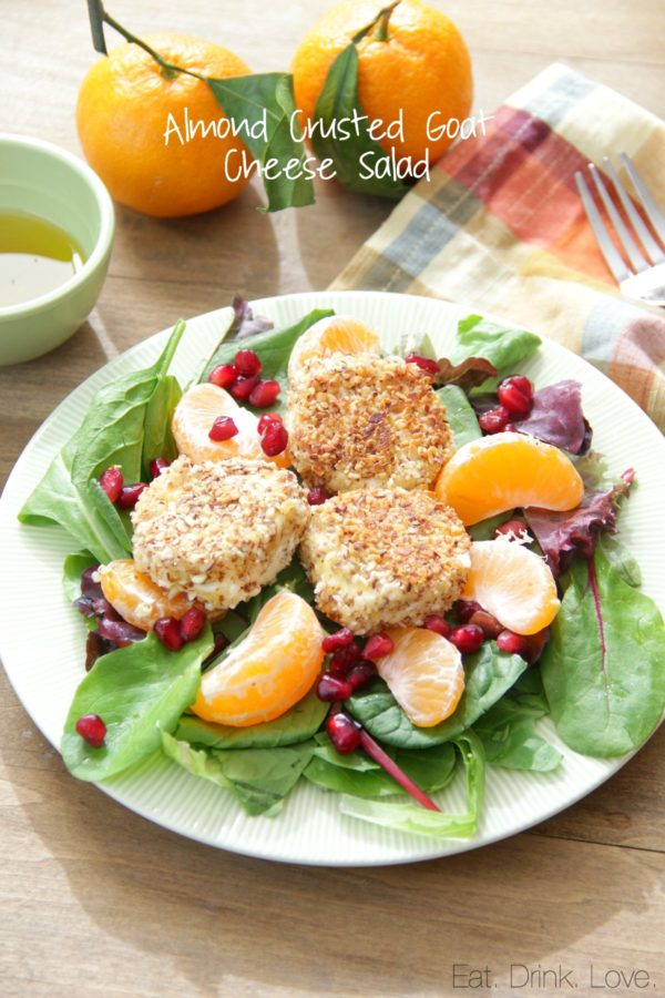 Almond Crusted Goat Cheese Salad