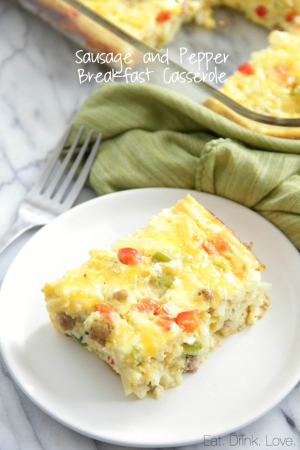 Sausage and Pepper Breakfast Casserole