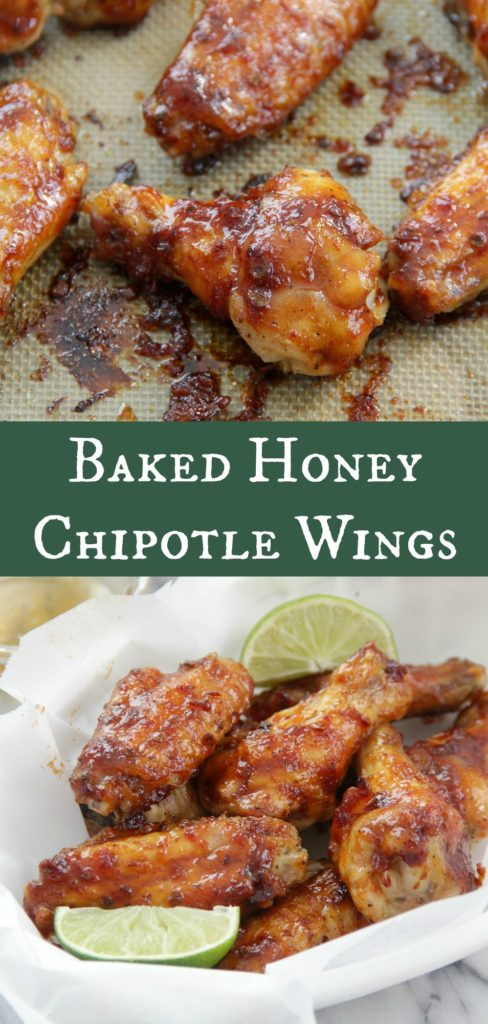 Baked Honey Chipotle Wings