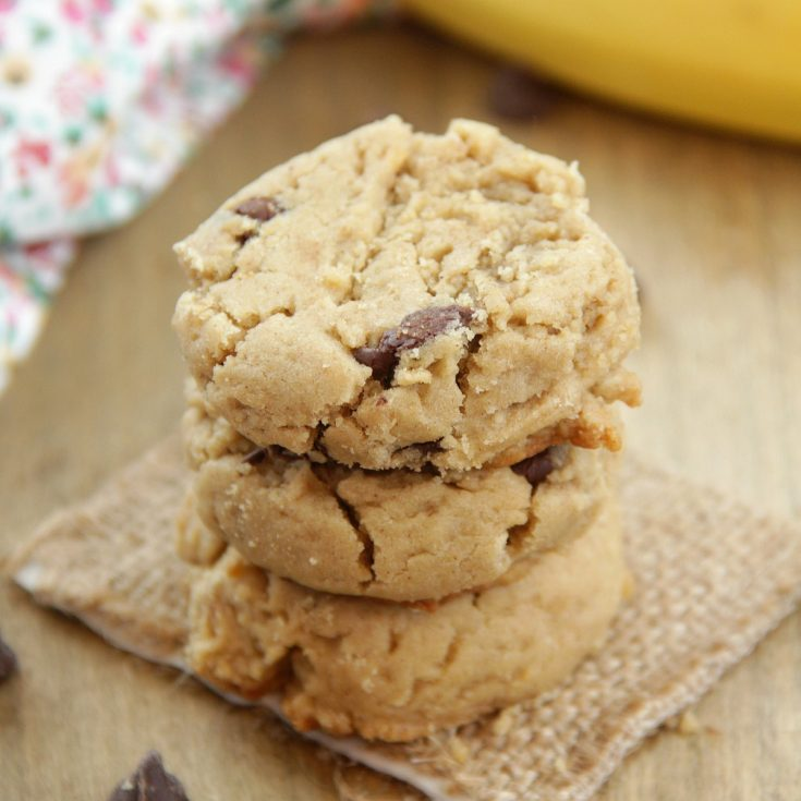Peanut Butter Banana Chip Cookies