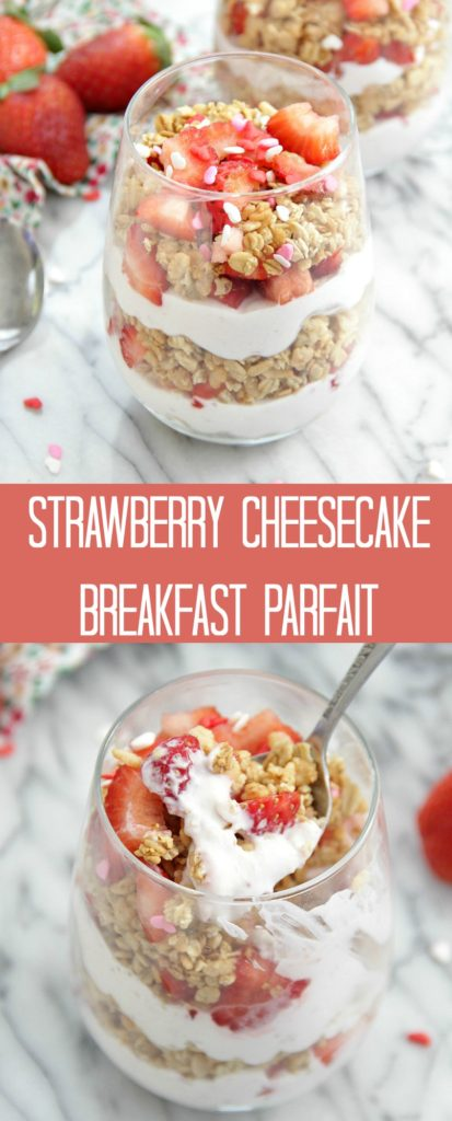 Strawberry Cheesecake Breakfast Parfait