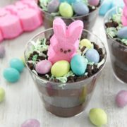 Easter Bunny Dirt Cups, Pudding, Chocolate, Oreo