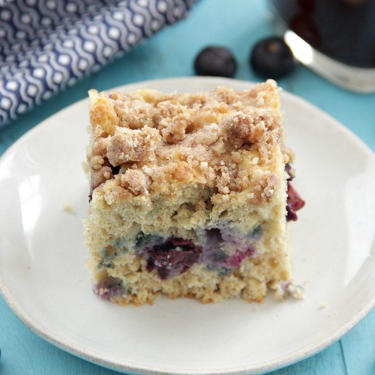 Skinny Blueberry Coffee Cake