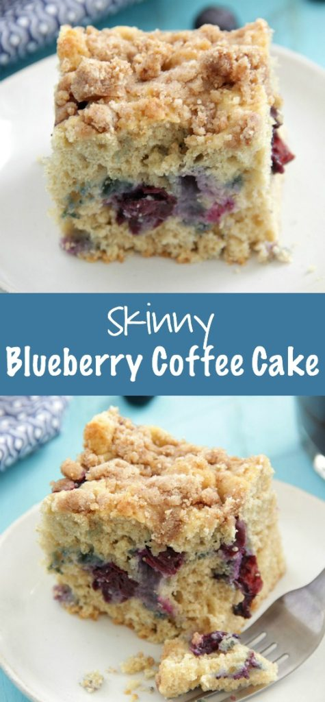 Skinny Blueberry Coffee Cake