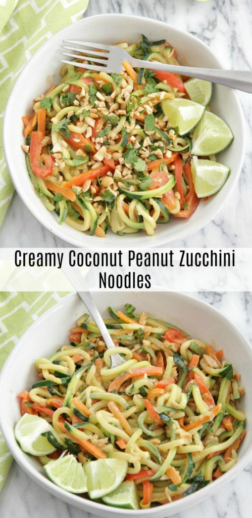 Creamy Coconut Peanut Zucchini Noodles