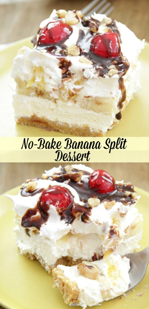 No-Bake Banana Split Dessert