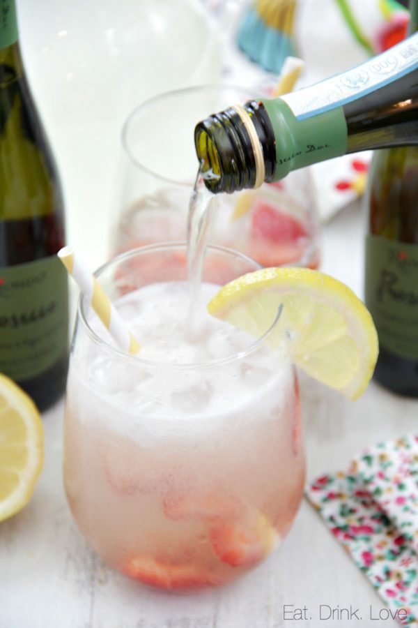 Prosecco Lemonade Punch