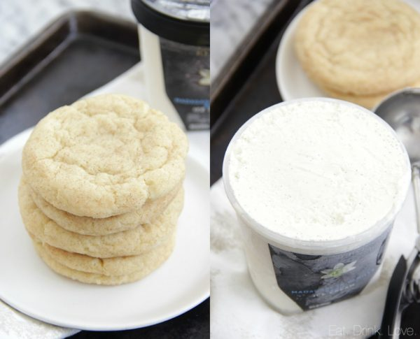 Vanilla Bean Ice Cream Sandwiches