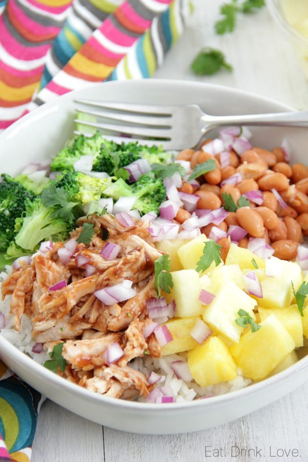 Barbecue Chicken Rice Bowls