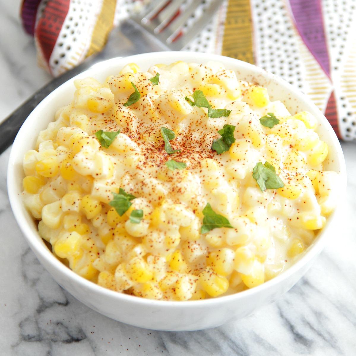 Easy Creamed Corn - Eat  Drink  Love