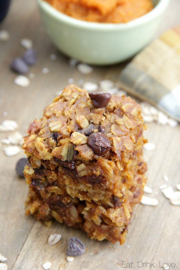 Pumpkin Oat Bars, Oatmeal