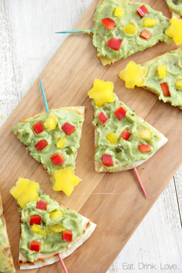Christmas Tree Quesadillas