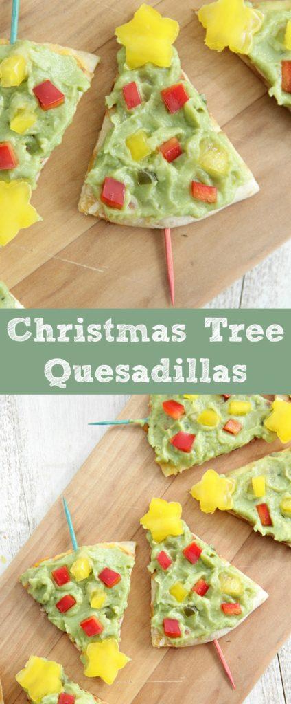 Christmas Tree Quesadillas