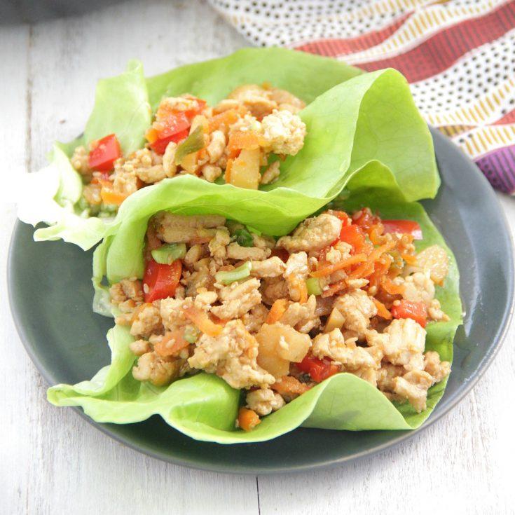 Teriyaki Chicken Lettuce Wraps