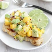 Honey Lime Chicken with Mango Avocado Salsa