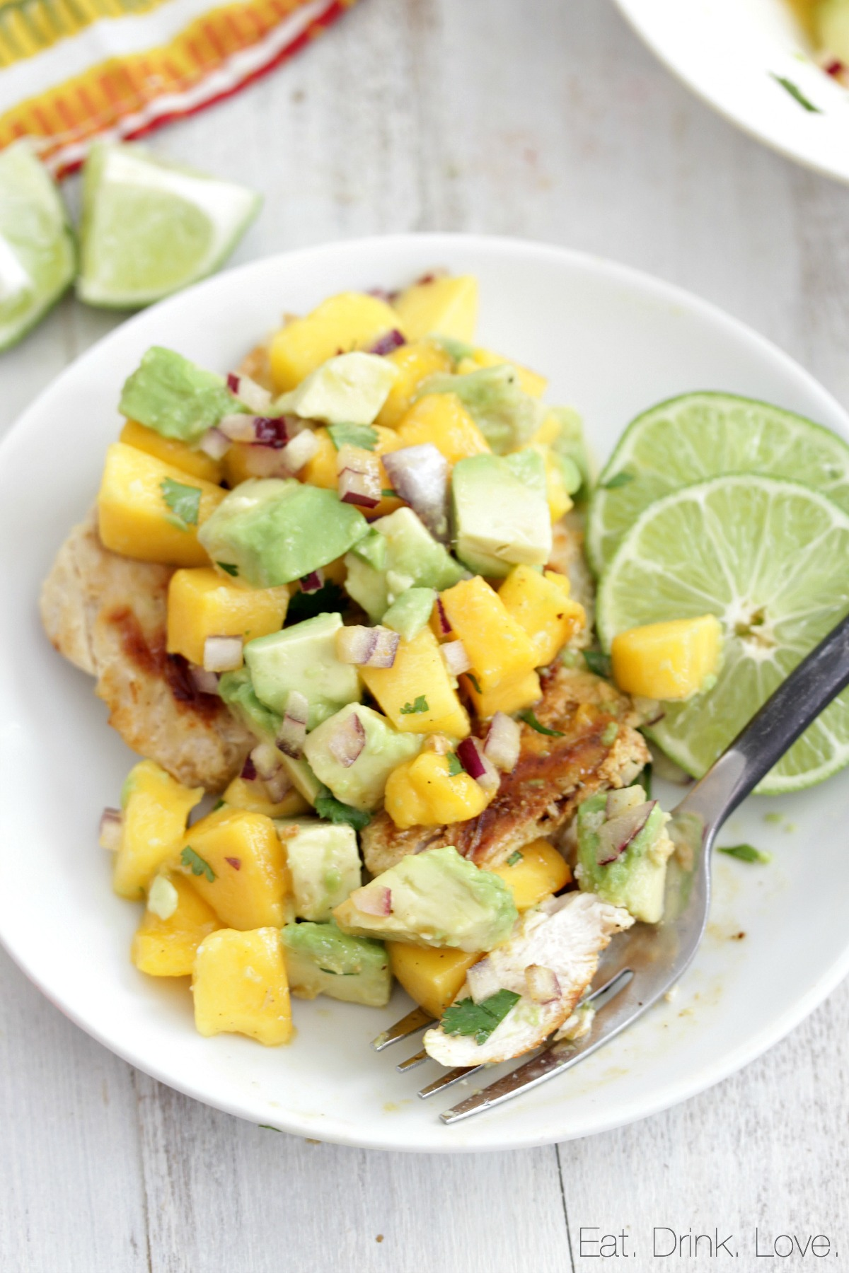 Honey Lime Chicken with Mango Avocado Salsa