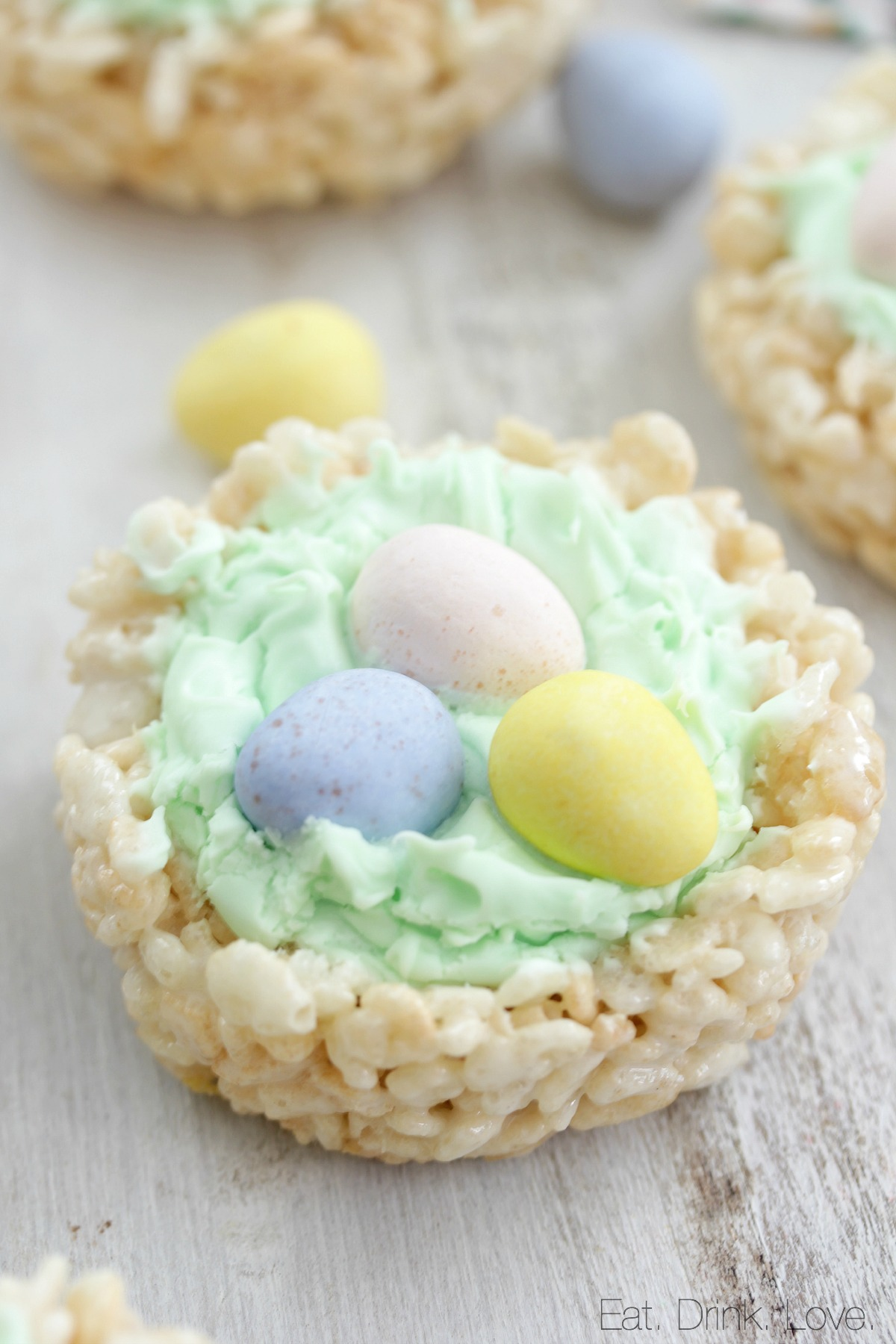 Rice Krispie Easter Nests