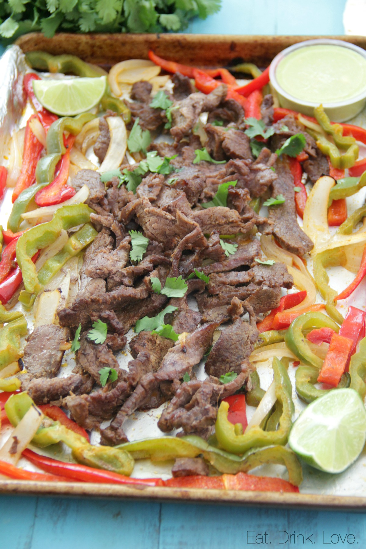 Sheet Pan Steak Fajitas