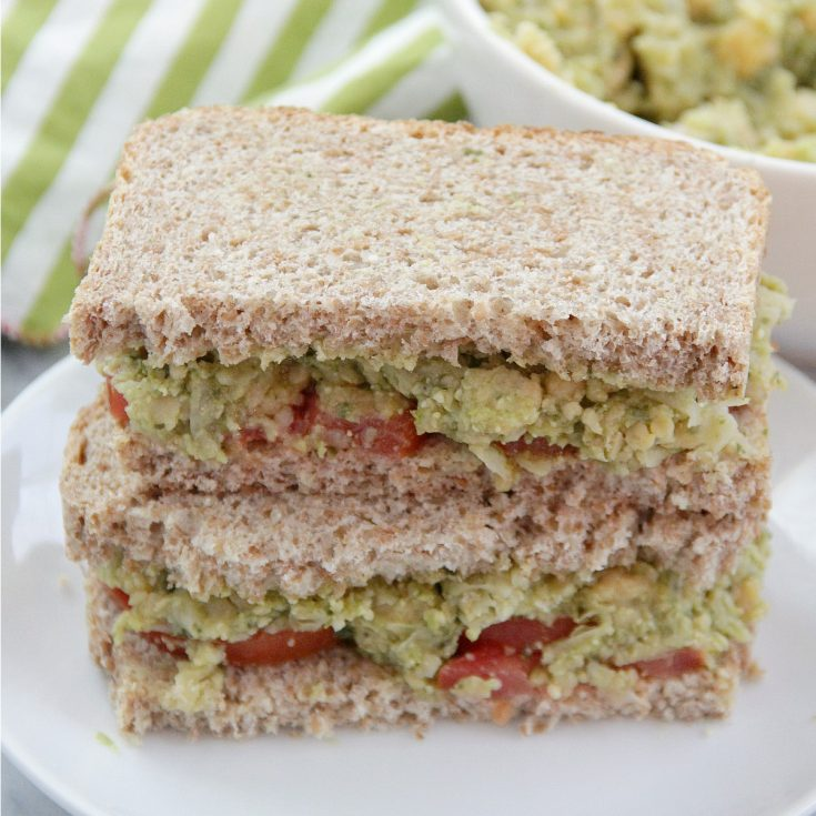 Smashed Chickpea, Avocado, and Pesto Sandwiches
