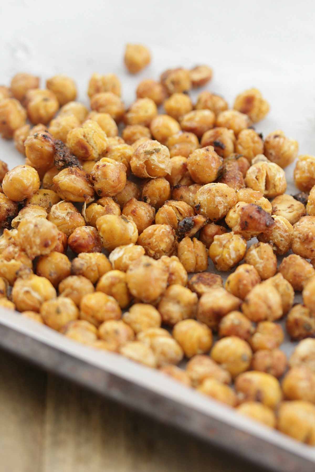 Crunchy Baked Ranch Chickpeas