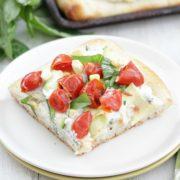 Tomato and Zucchini Ricotta Pizza