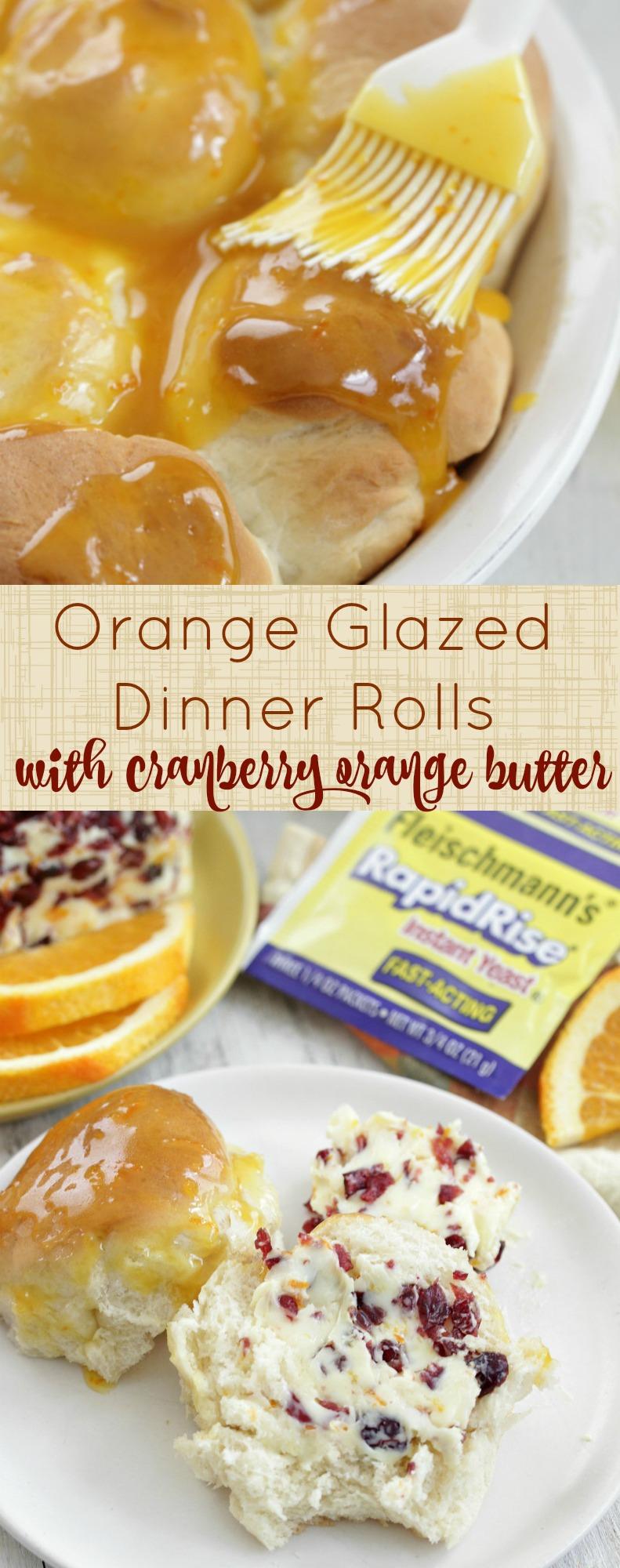 Orange Glazed Dinner Rolls