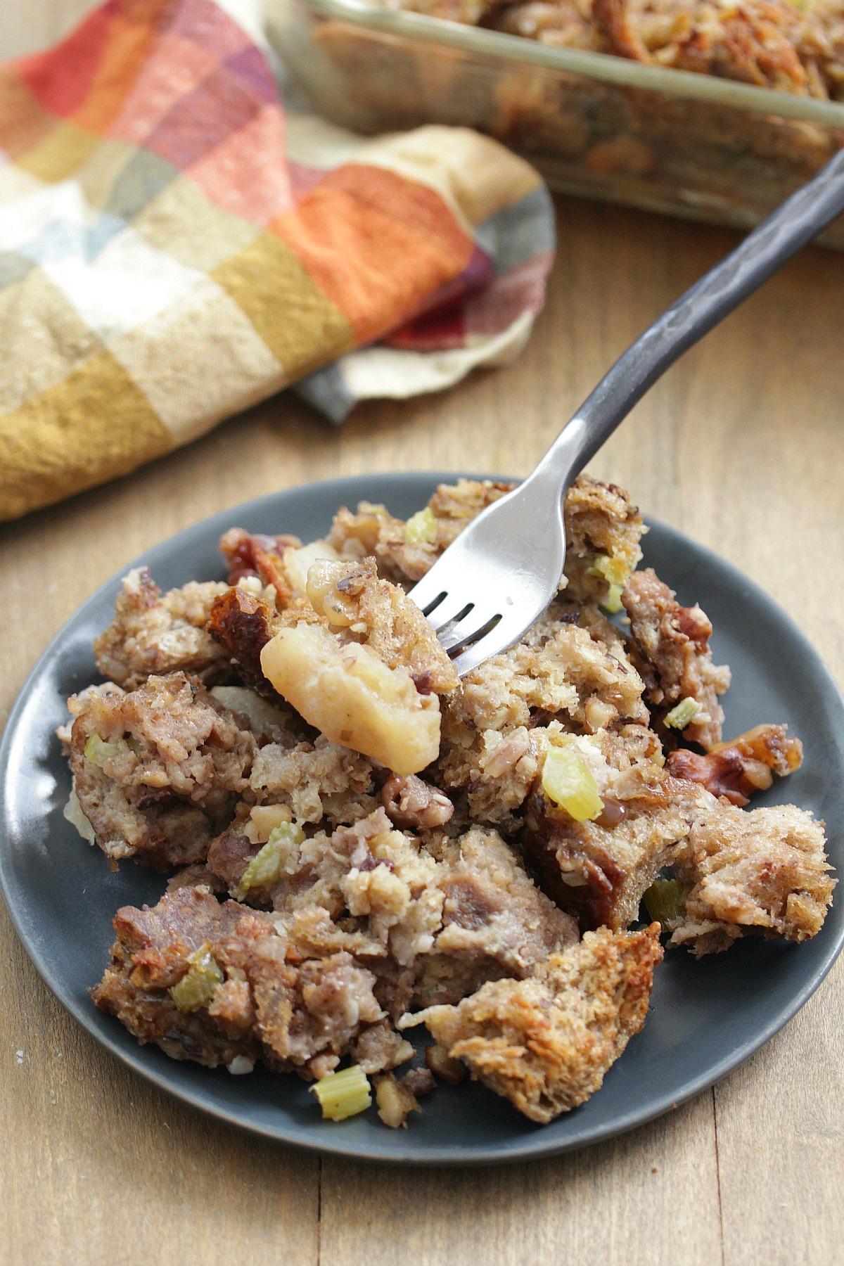 Whole Wheat Apple Walnut Stuffing