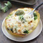 Creamy Chicken and Broccoli Stuffed Spaghetti Squash