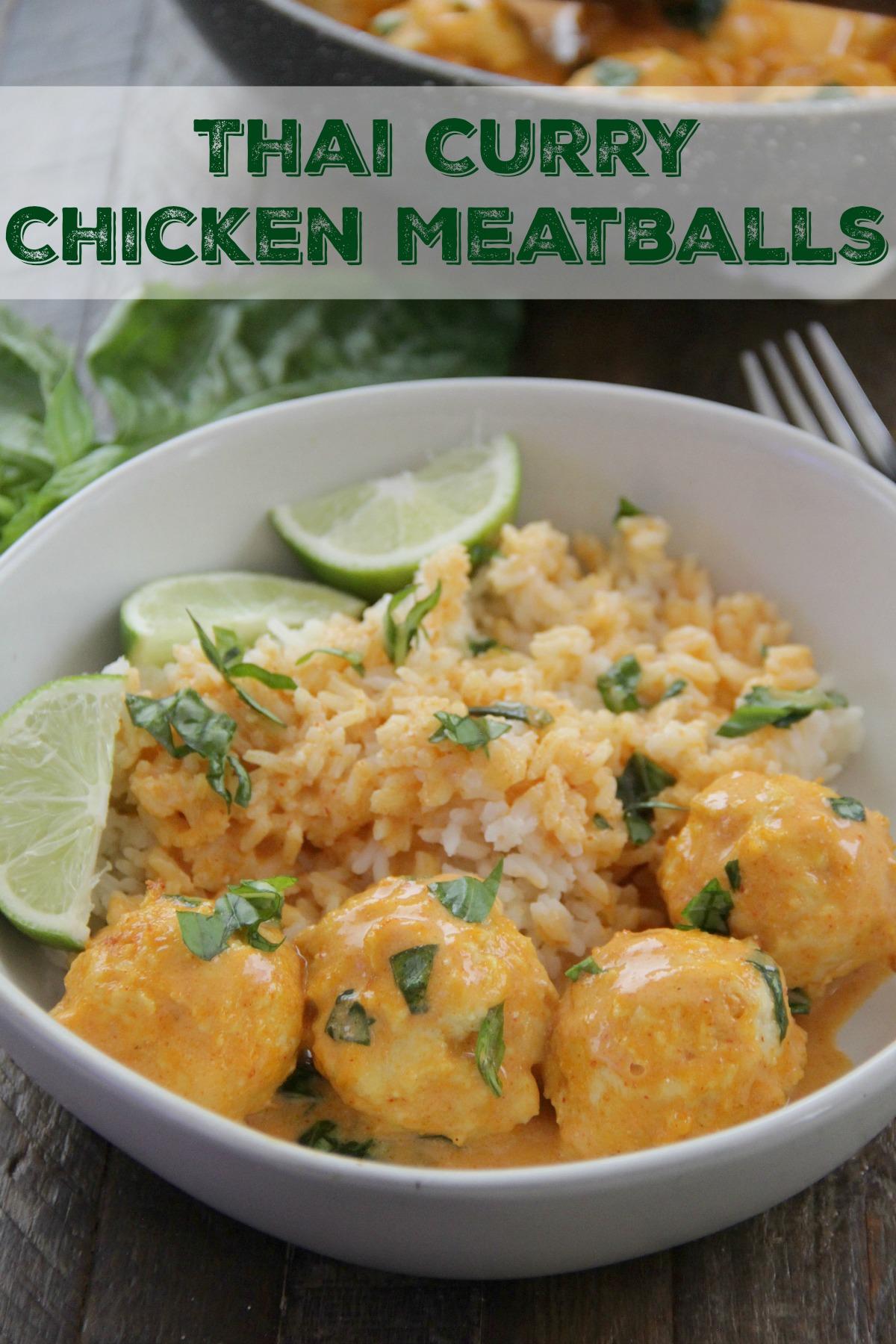 Thai Curry Chicken Meatballs