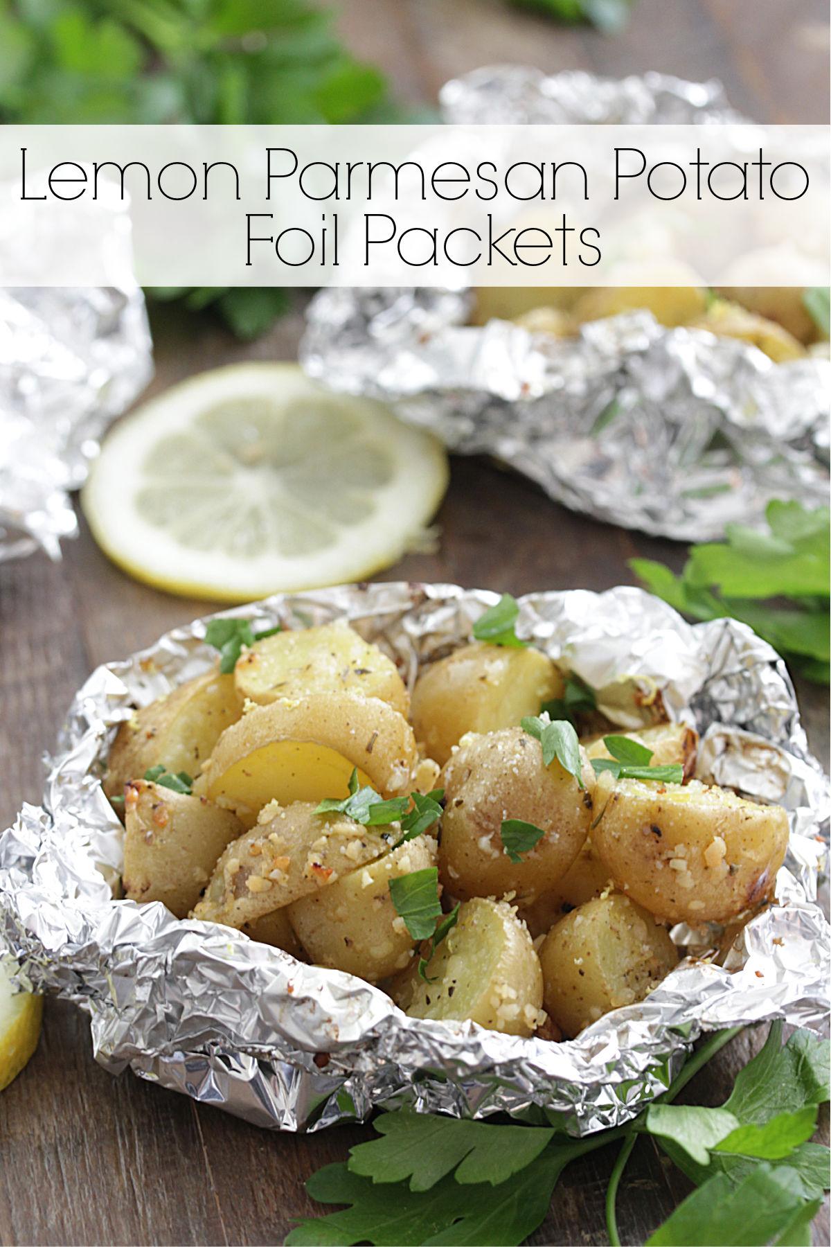 Lemon Parmesan Potato Foil Packets