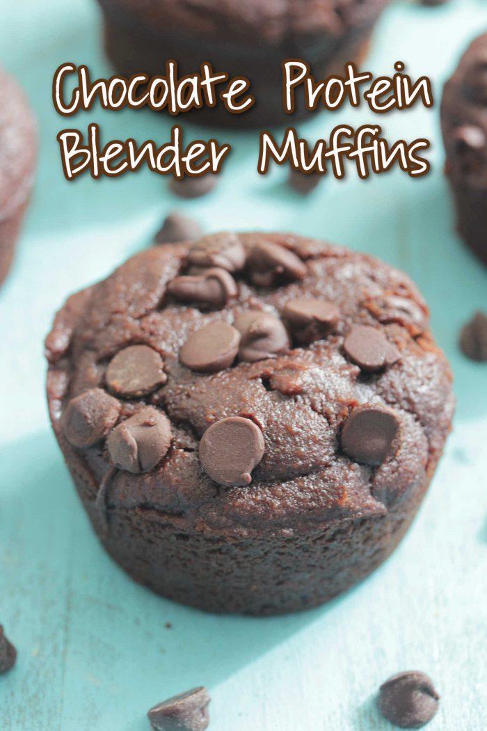 Chocolate Protein Blender Muffins