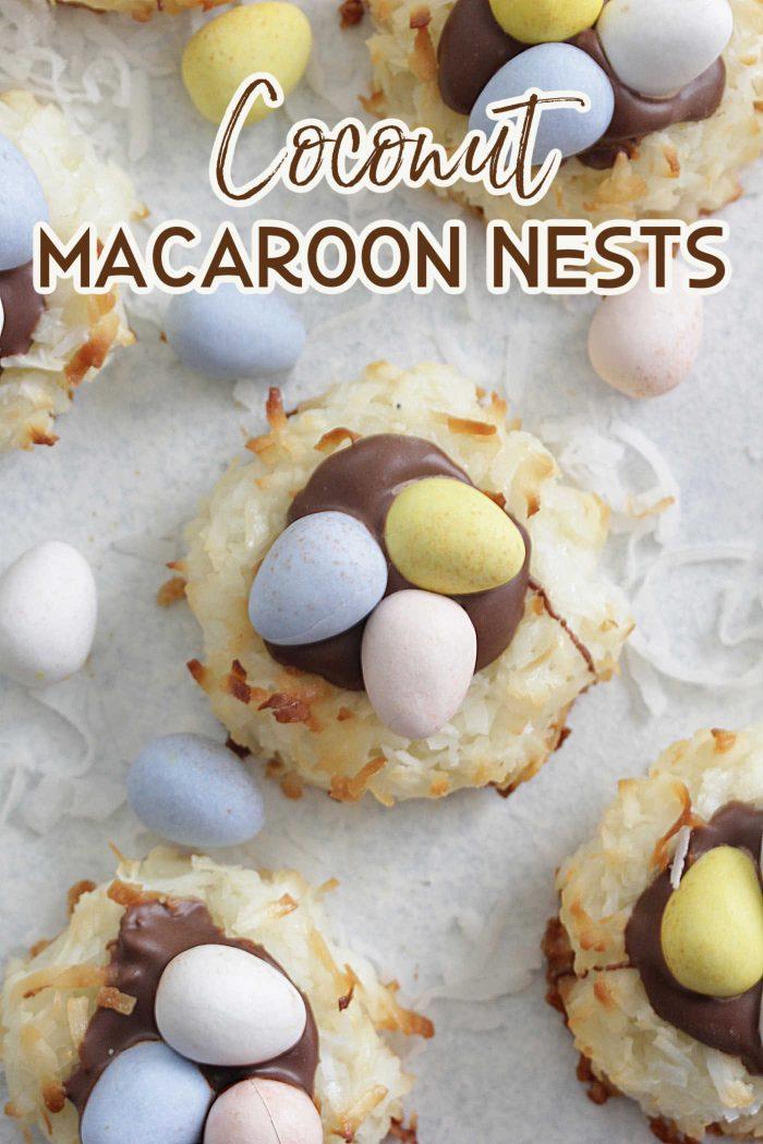 Coconut Macaroon Nests Cookies