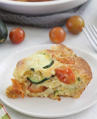 Zucchini Tomato Biscuit Bake